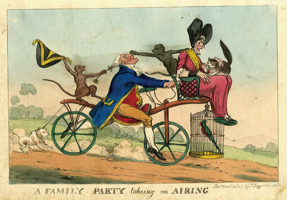 A family party taking an airing, Heath, William, 1819